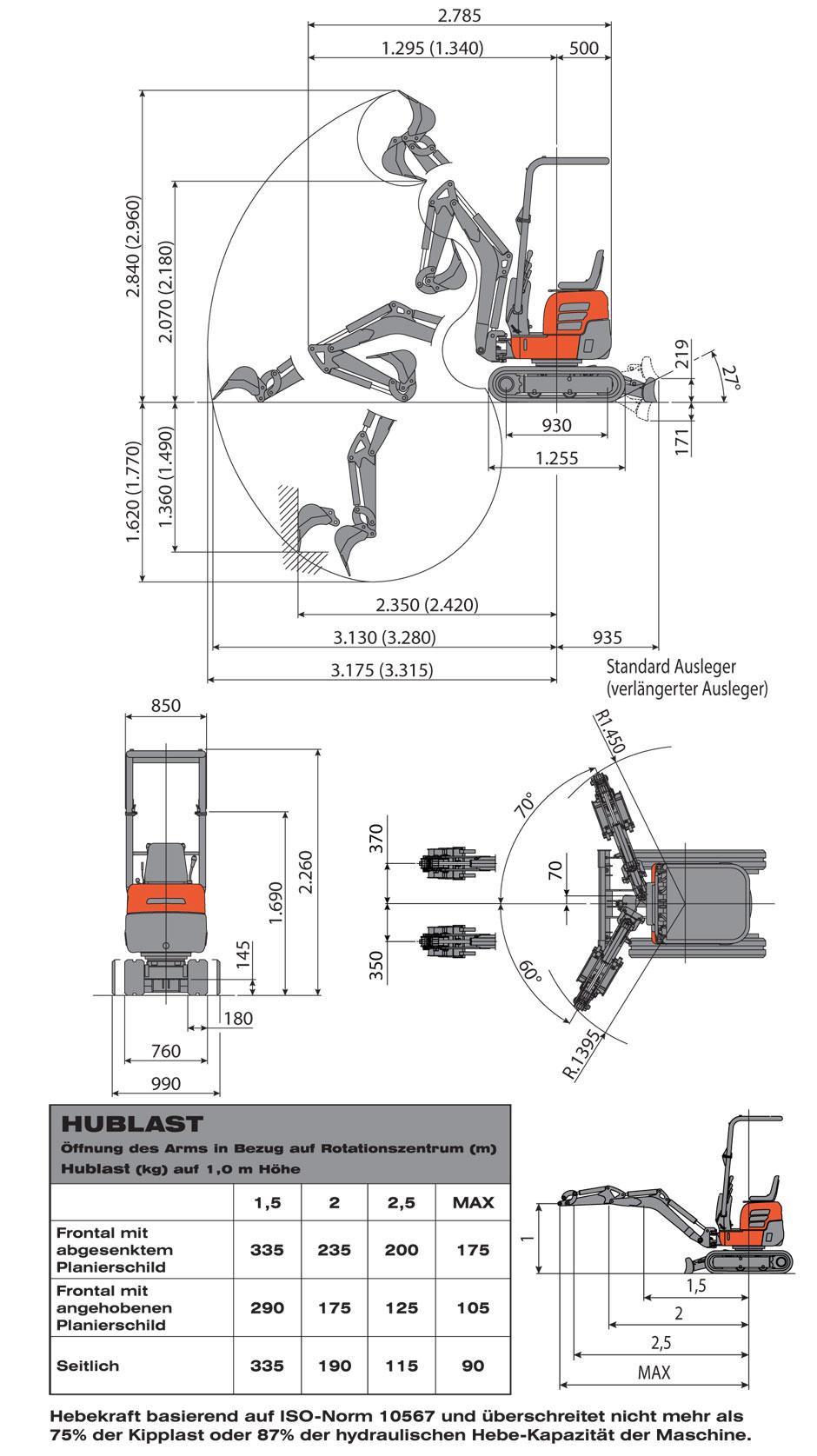 Bevorzugt Minibagger-Eurocomach-ES10-ZT KF07